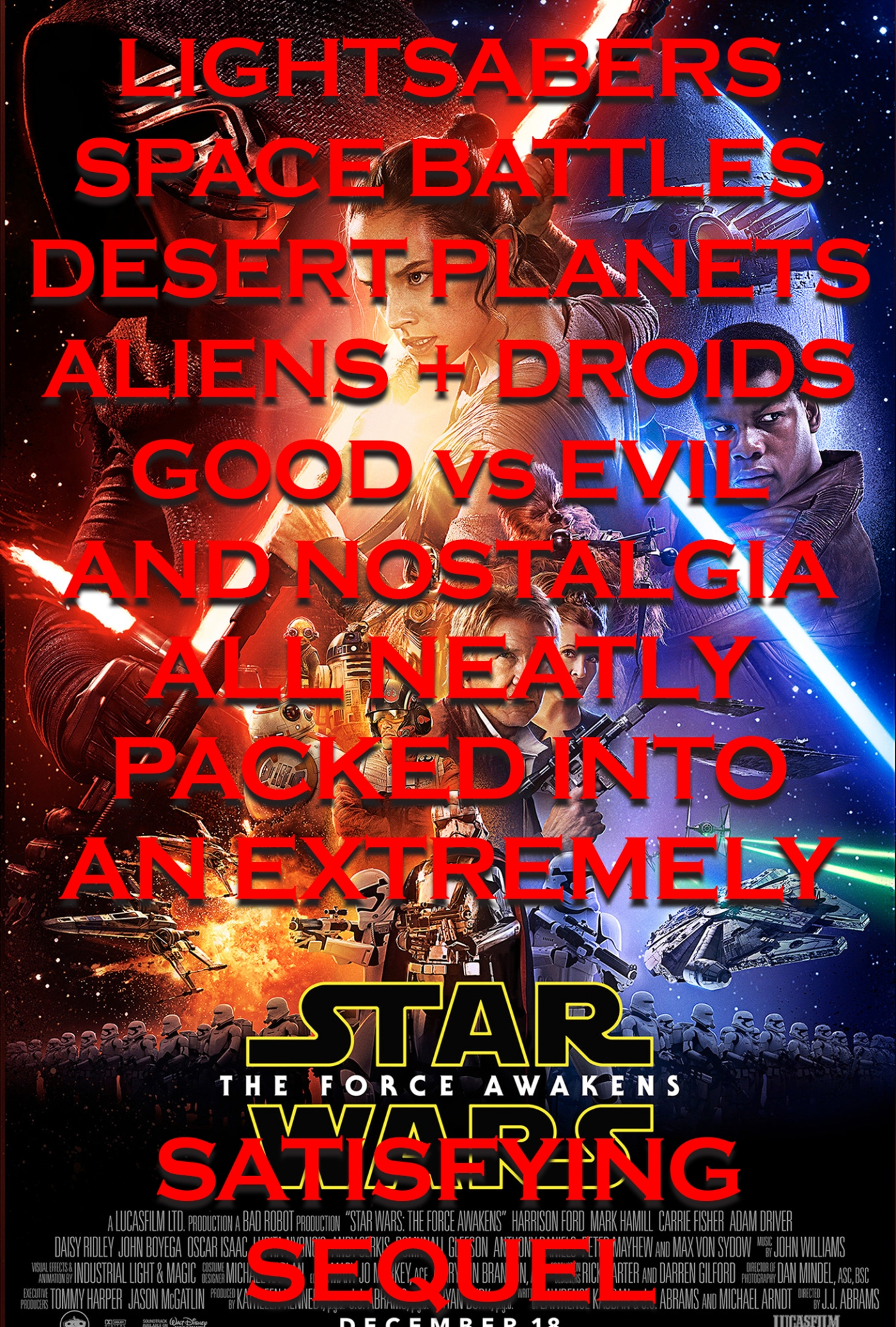sci fi movie reviews star wars the force awakens film review